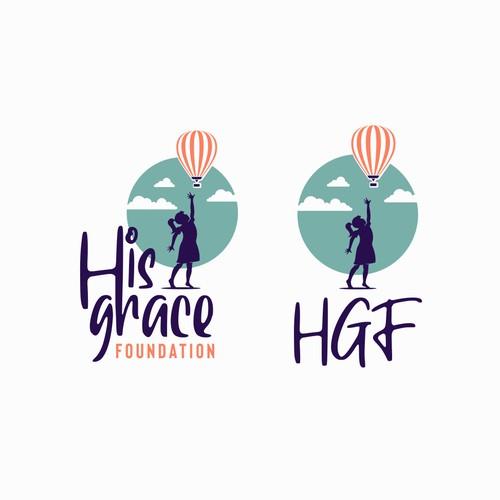 Girl and balloon logo
