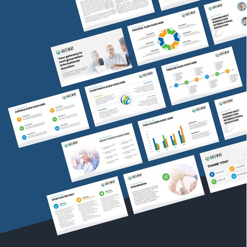 Professional PowerPoint template for Senior Executives at universities.