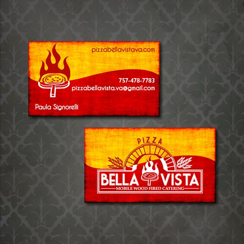 Pizza Bella Vista needs a business card design