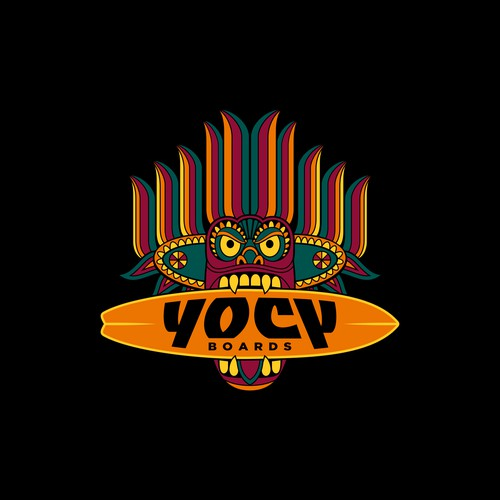Ethnic concept logo for YOCY Surfboards