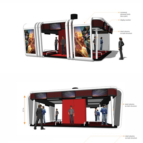 simple modern booth design for VR