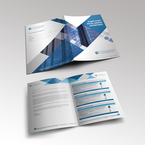 Booklet for technology company