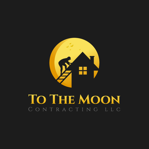 """Logo for """"To The Moon"""" contracting . Dreams, Restfully assured, To great lengths"""