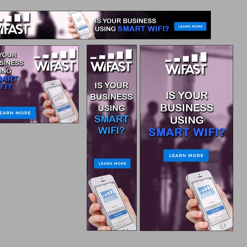 Create a lead generation banner ad for WiFast