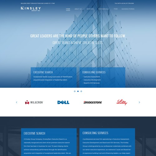 Website for  Kinsley Group Executive Consulting Services