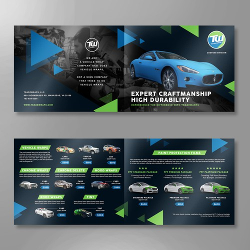 Brochure design for Tradewraps