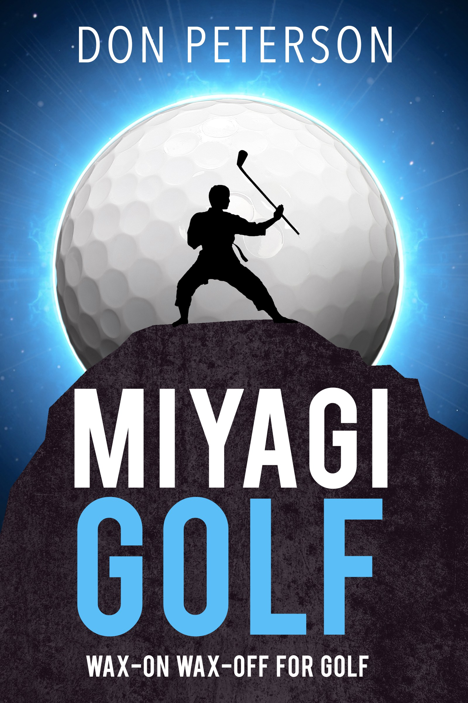 Highly Visible Golf Instruction Book Cover Design