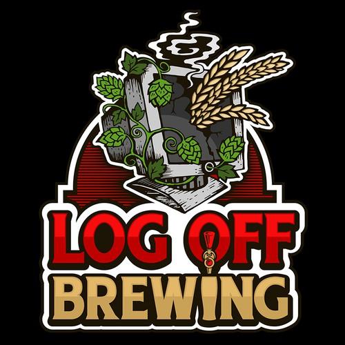 Design an innovative logo for a new craft brewery - LogOff Brewing