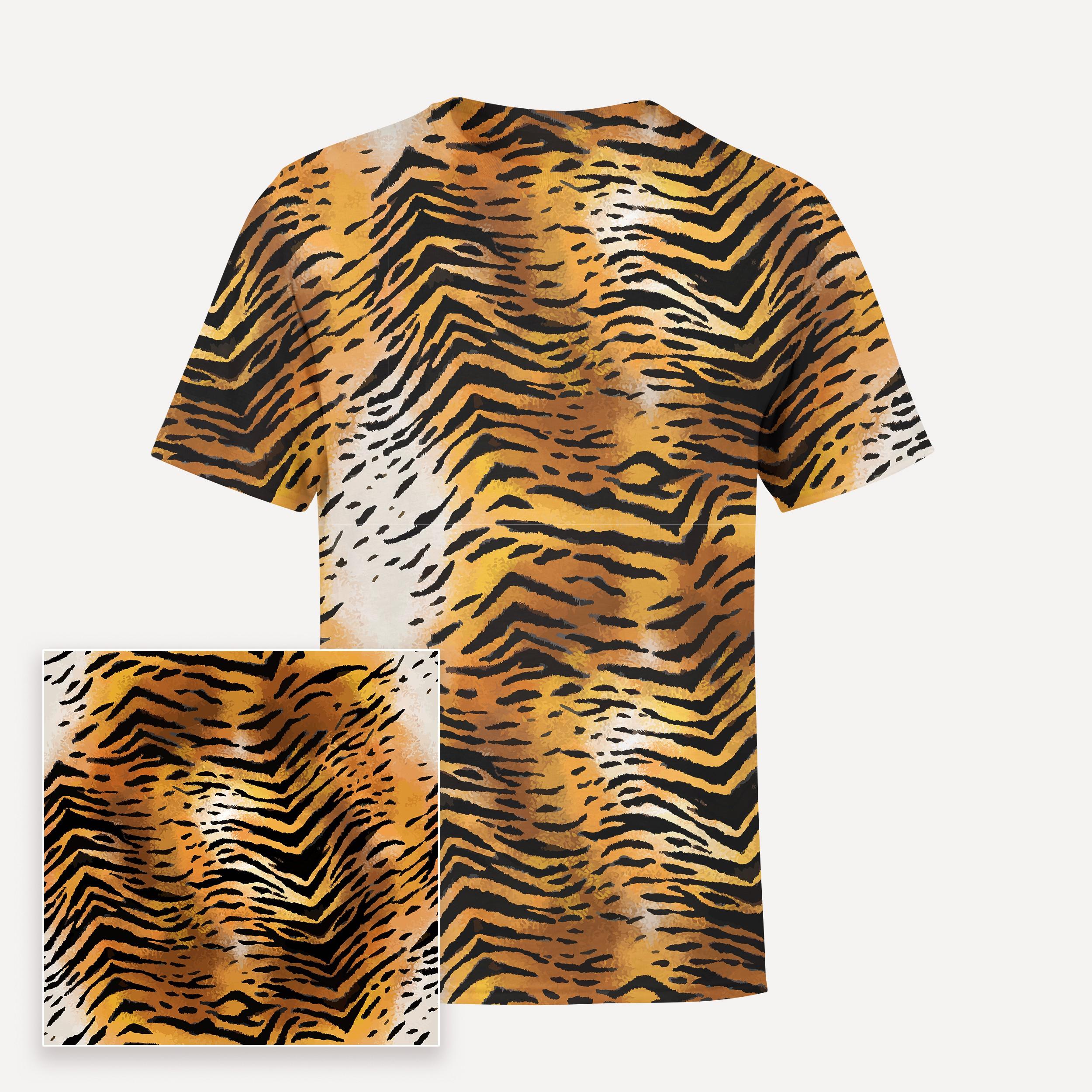 Tiger stripes print for textile