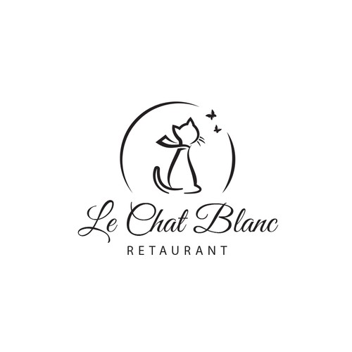 Restaurant Le Chat Blanc Logo project