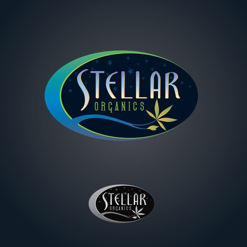 Create an amazing logo for Stellar Organics medicinal cannabis farm