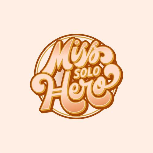 Retro lettering logo