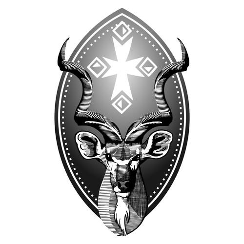 African Jägermeister tattoo