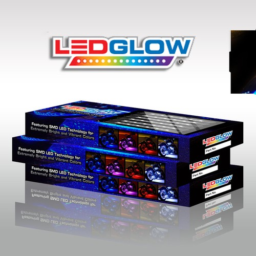 Design LEDGlow's MIllion Color Motorcycle Lighting Kit Packaging