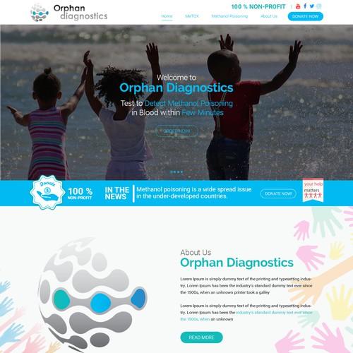Web Page Design for Orphan Diagnostics