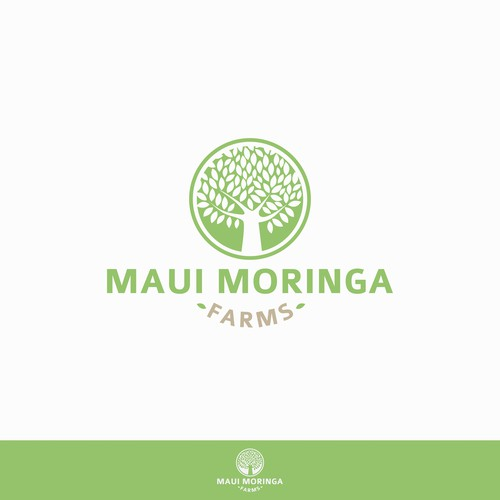Logo design for a Moringa tree farm.
