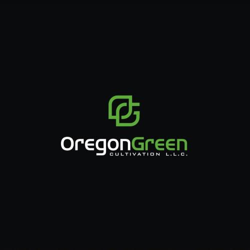 Modern Minimalist logo for Oregon Green Cannabis/Cultivation