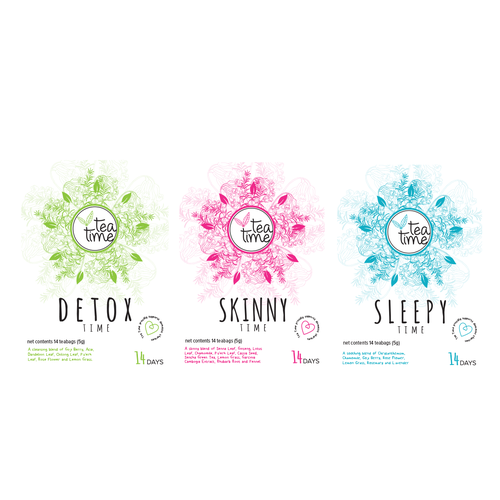 Create a captivating and chic labels for our tea blends