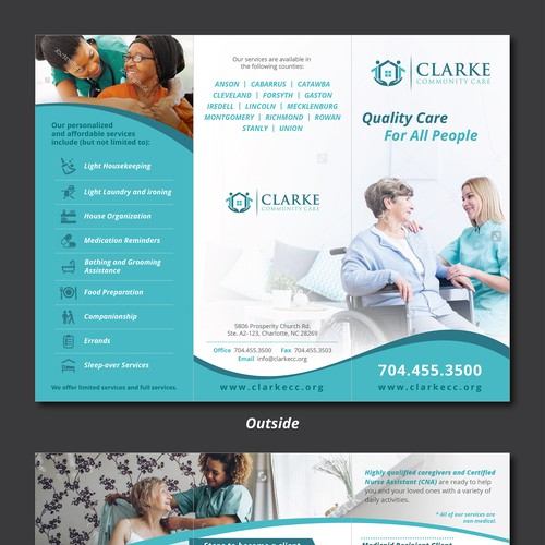 Clarke Home Care Brochure Design