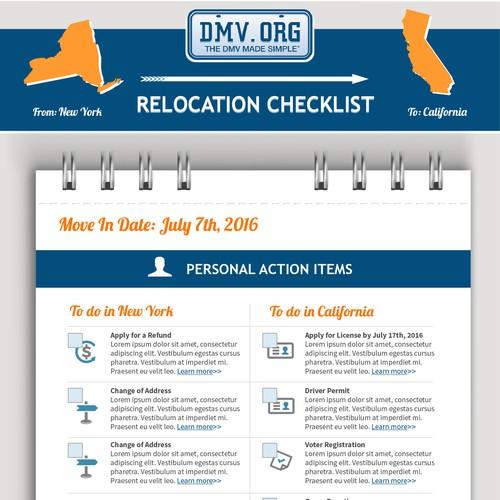 Relocation Checklist Infographic