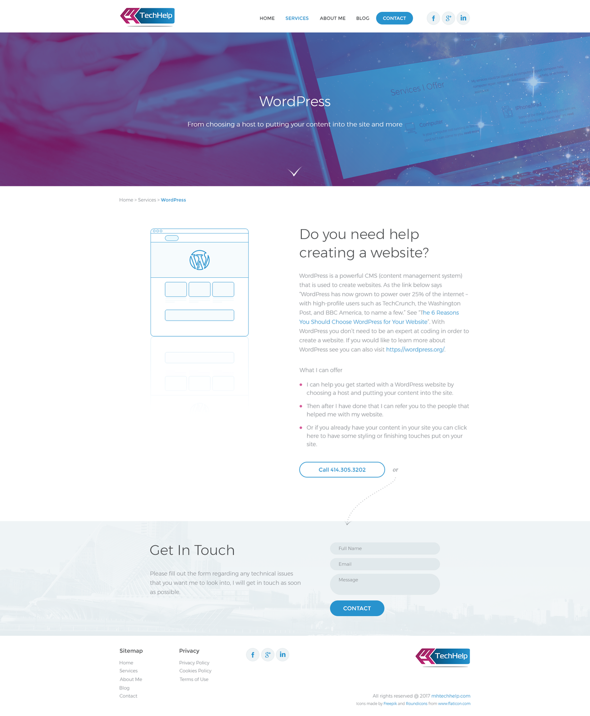 Design/style the rest of website