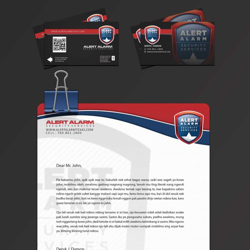 Create an awesome Business card and letterhead Using the attached templates.