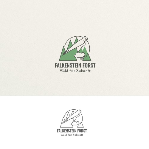 Logo for a forest company