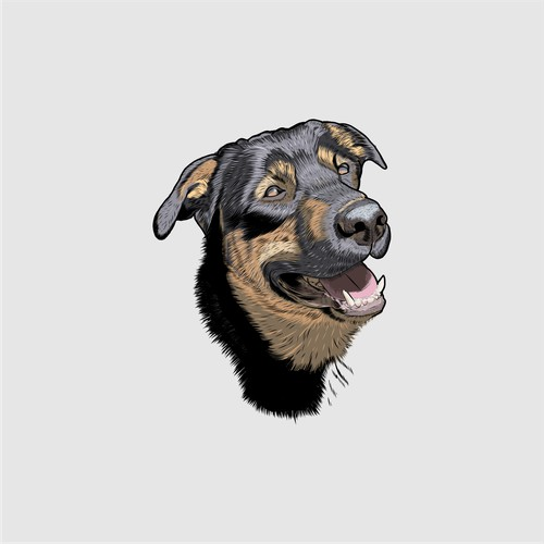 Logo for dog face