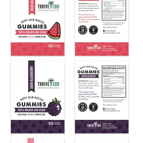 Gummies packaging design
