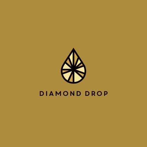 Diamond and Drop logo concept