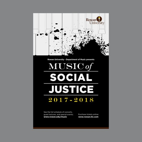 Poster music concert with social justice message