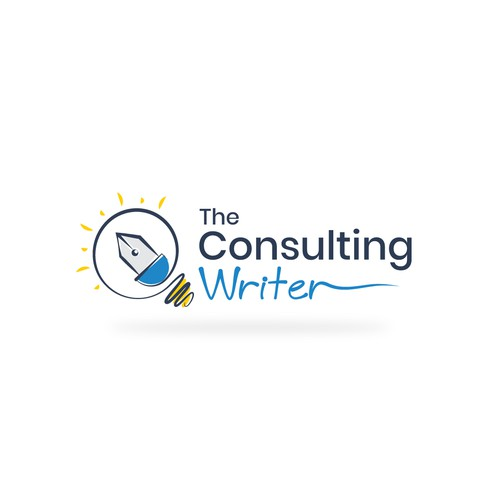 The Consulting writer logo design