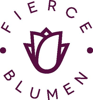 Simple high-end logo for faux floral supplies website Fierce Blumen