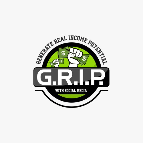 G.R.I.P. - Generate Real Income Potential Logo