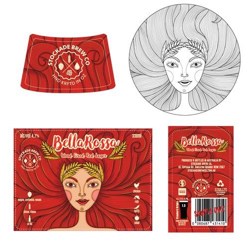 Beer label design and illustration proposal