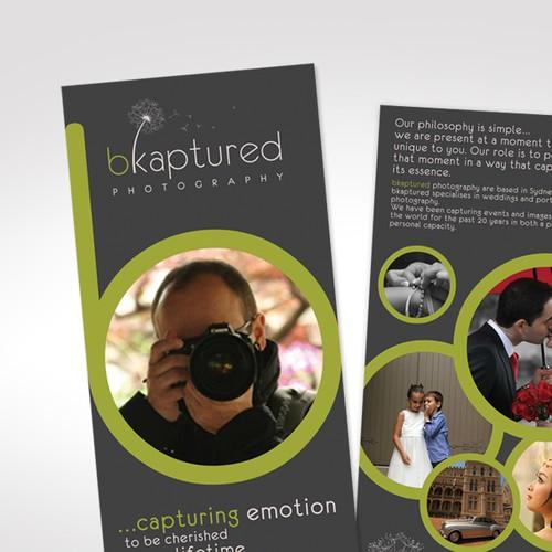 print or packaging design for bkaptured photography