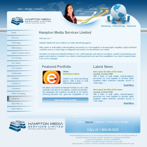 Full Corporate template required for Hampton Media Services Limited