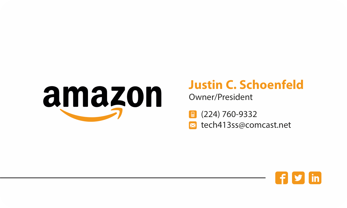 Business Card Design for Amazon Business Owner