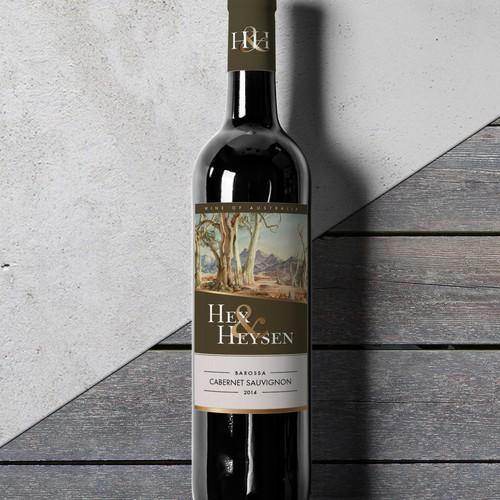 Wine label for Hex & Heysen