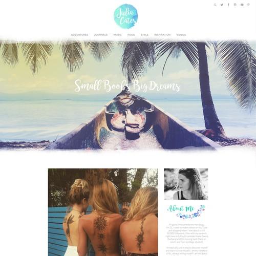 Design Concept for Adventure Blog