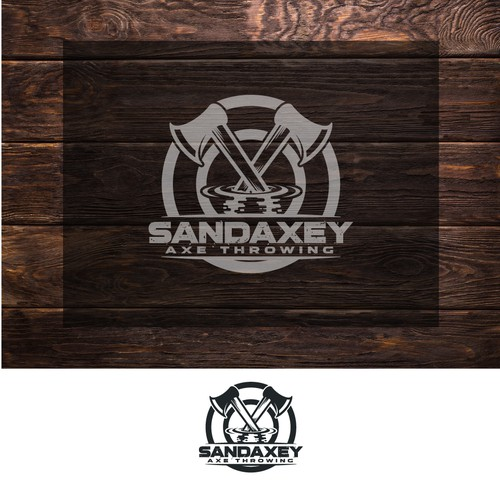 Axe throwing logo for Sandaxey