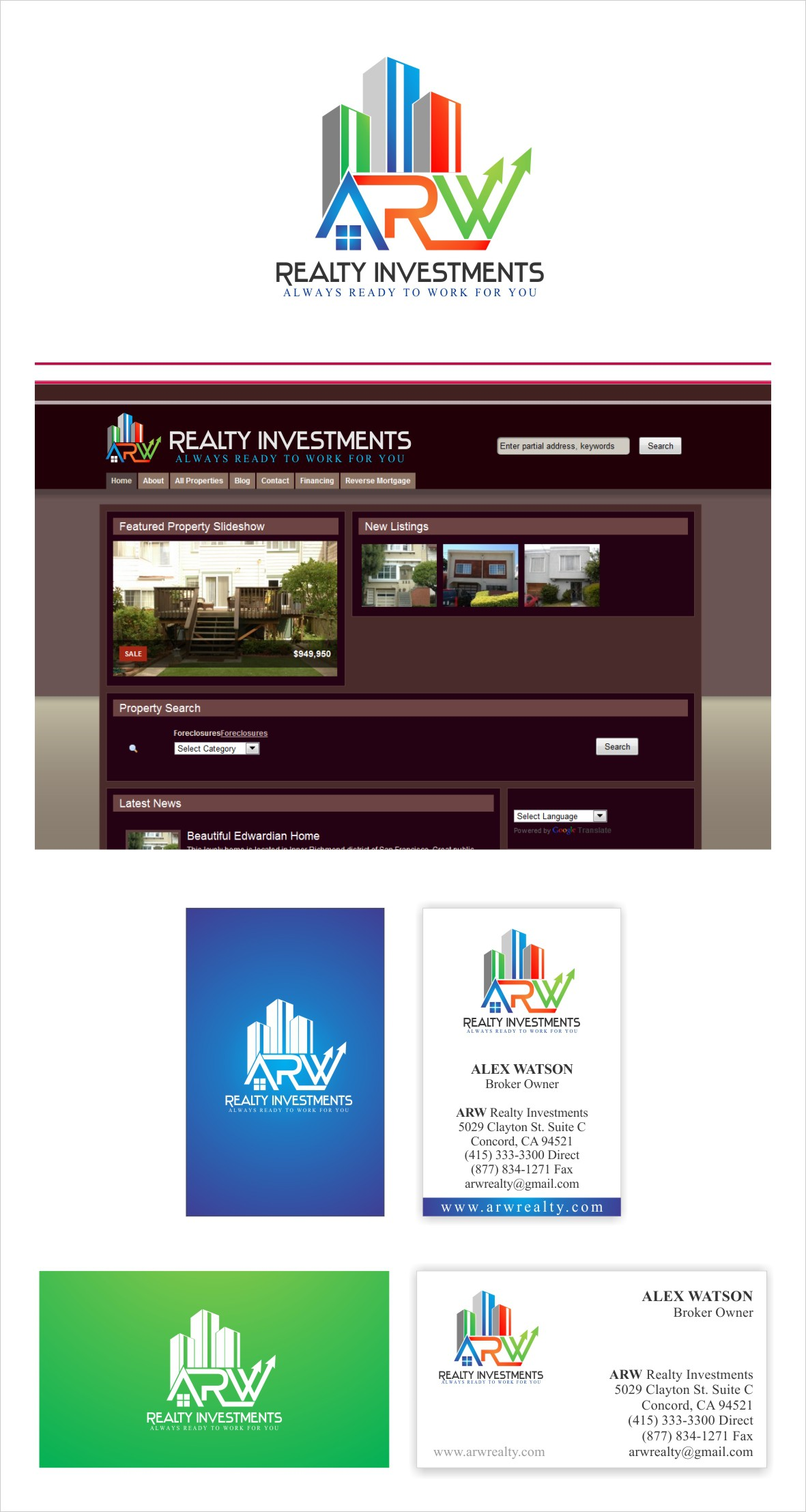 Help ARW Realty Investments with a new logo