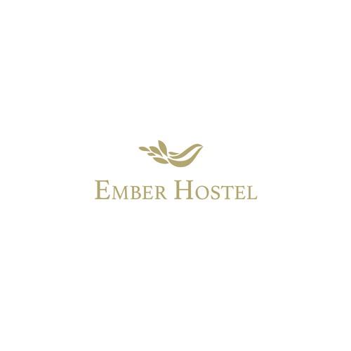 logo concept for Ember Hostel