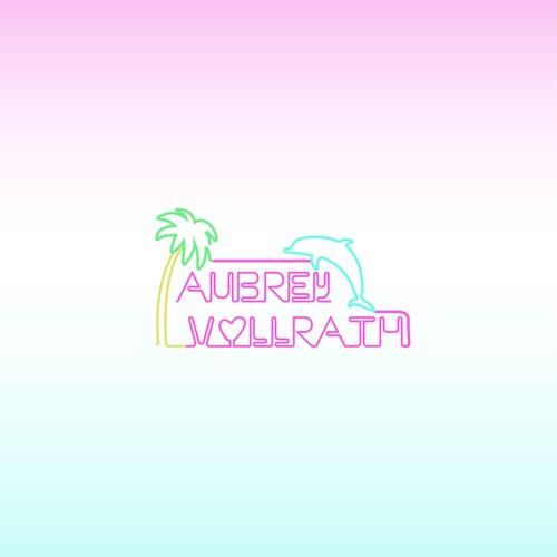 Neon style logo for artist