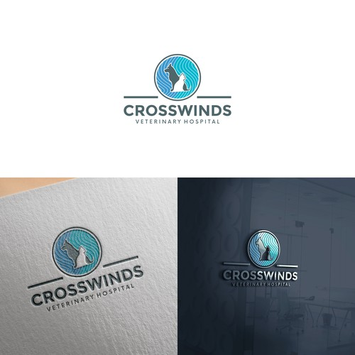 Startup logo concept for CROSSWINDS