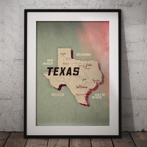 Map-Texas design