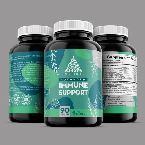 Immune Support Label Design