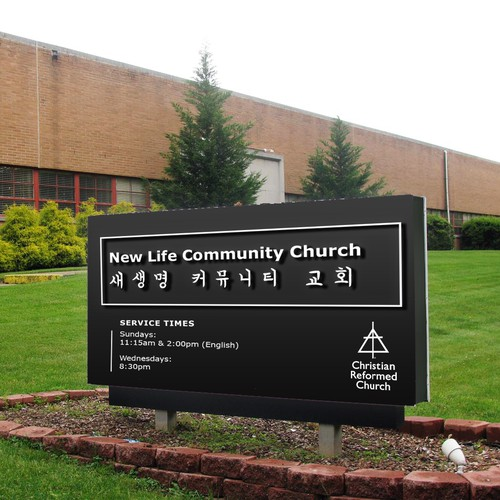 Signage Design for Church in NY