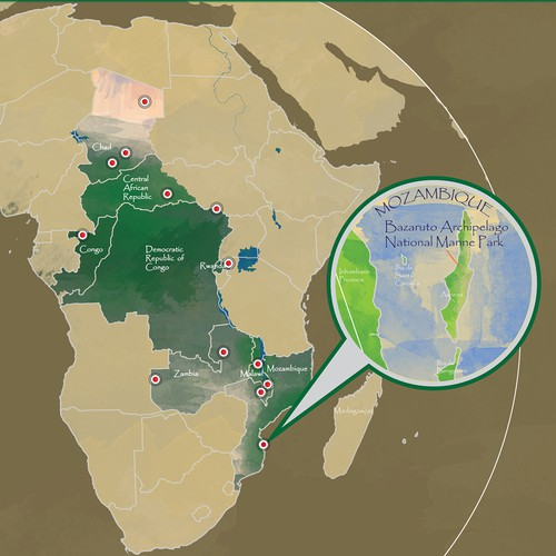 Map of National Parks in Africa