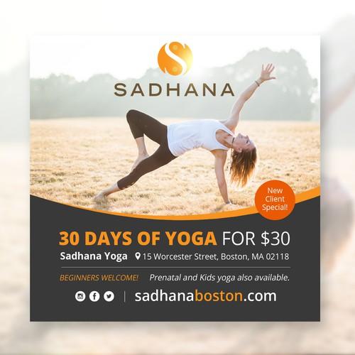 Yoga print ad